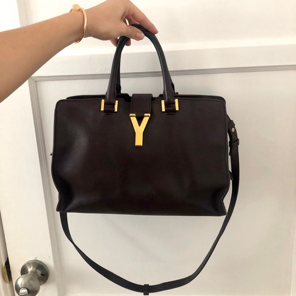 1c2588cd654d Handbags - Saint Laurent YSL Petit Cabas Y Bag burgundy